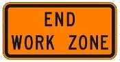 "End Work Zone 48"" x 24"""