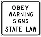 "Obey Warning Signs 48"" x 42"""