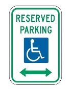 "Reserved Parking - Disabled 12"" x 18"""