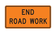 "End Road Work 48"" x 24"""